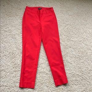 Red Slim Ankle Pants